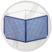 Round Beach Towel featuring the drawing Rfb1012 by Robert F Battles