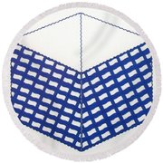 Round Beach Towel featuring the drawing Rfb1013 by Robert F Battles