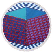 Round Beach Towel featuring the drawing Rfb1016 by Robert F Battles