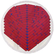 Round Beach Towel featuring the drawing Rfb1019 by Robert F Battles