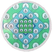 Round Beach Towel featuring the drawing Rfb1021 by Robert F Battles
