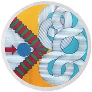 Round Beach Towel featuring the drawing Rfb1024 by Robert F Battles