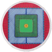 Round Beach Towel featuring the drawing Rfb1029 by Robert F Battles