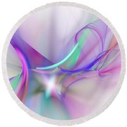 Rhapsody  Round Beach Towel by David Lane