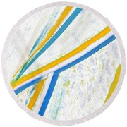 Round Beach Towel featuring the digital art Rhapsody In Leaves No 1 by Ben and Raisa Gertsberg