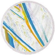 Round Beach Towel featuring the digital art Rhapsody In Leaves No 2 by Ben and Raisa Gertsberg