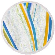 Round Beach Towel featuring the digital art Rhapsody In Leaves No 3 by Ben and Raisa Gertsberg