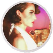 Rhapsody In Profile  ... Round Beach Towel