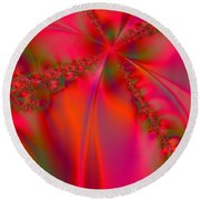 Rhapsody In Red Round Beach Towel