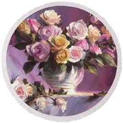 Rhapsody Of Roses Round Beach Towel