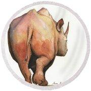 Rhino Back Round Beach Towel