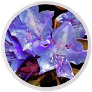 Rhododendron Glory 6 Round Beach Towel