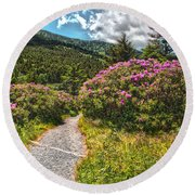 Rhododendrons On The At Round Beach Towel