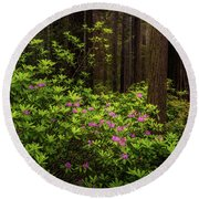 Rhododendrons Round Beach Towel