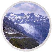Rhone Glacier, Switzerland Round Beach Towel