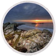 Rhosili 6 Round Beach Towel