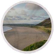 Rhossili Bay, South Wales Round Beach Towel