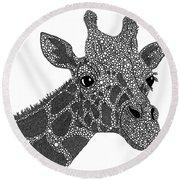Rhymes With Giraffe Round Beach Towel