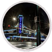 Rialto Theater Round Beach Towel