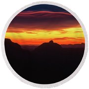Ribbon Sunrise Round Beach Towel
