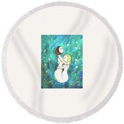 Ribbons Of Grass Round Beach Towel