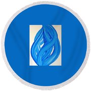 Ribbons Of Love-blue Round Beach Towel