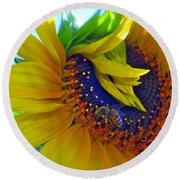 Rich In Pollen Round Beach Towel