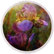 Rich Purple Irises 0056 Idp_22 Round Beach Towel