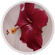 Rich Red Round Beach Towel
