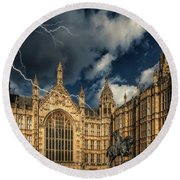 Round Beach Towel featuring the photograph Richard The Lionheart by Adrian Evans