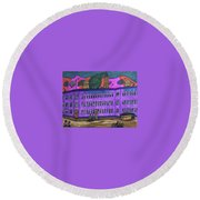 Richardson Shoe Company. Round Beach Towel by Jonathon Hansen