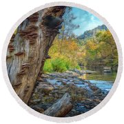Richland Creek Round Beach Towel