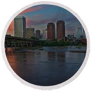 Richmond Dusk Skyline Round Beach Towel
