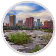 Richmond Skyline Round Beach Towel