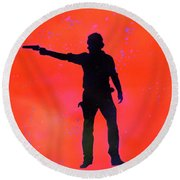 Rick Grimes Round Beach Towel by Justin Moore