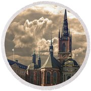 Riddarholm Church - Stockholm Round Beach Towel by Jeff Burgess