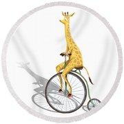 Ride My Bike Round Beach Towel