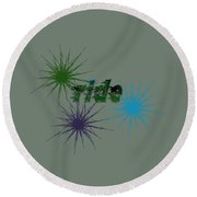 Ride Text And Art Round Beach Towel by Mim White