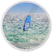 Ride The Waves, Scarborough Beach Round Beach Towel