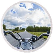 Riders Eye View Round Beach Towel