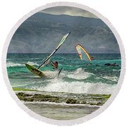 Riders On The Storm Round Beach Towel