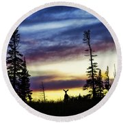 Ridge Sihouette Round Beach Towel