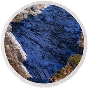Ridgeline Shadows Round Beach Towel