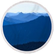 Round Beach Towel featuring the photograph Ridges And Layers by Lynn Hopwood