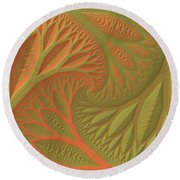 Ridges And Valleys Round Beach Towel