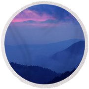 Ridges - D000023 Round Beach Towel