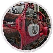 Ridgway Fire Truck Round Beach Towel