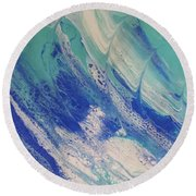 Riding The Wave Round Beach Towel