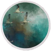 Round Beach Towel featuring the photograph Riding The Winds by Marvin Spates