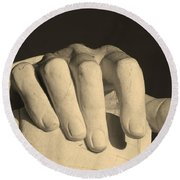 Right Hand Of The Man Round Beach Towel